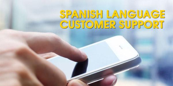 Spanish language customer support